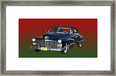 1947 Cadillac Sixty Two Convertible Framed Print by Jack Pumphrey