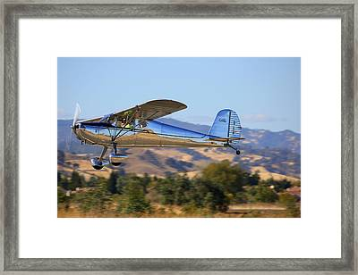 1947 Cessna 140 Climbing Out N4151n Framed Print