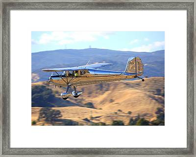 1947 Cessna 140 Fly-by N4151n Framed Print