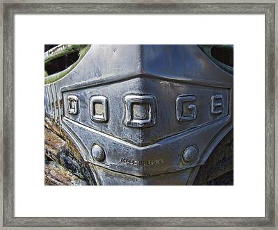 1947 Dodge Truck Made In U. S. A. Framed Print by Daniel Hagerman