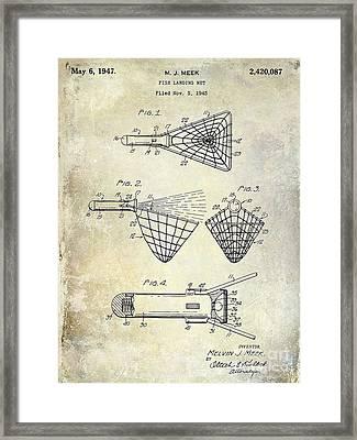 1947 Fishing Net Patent  Framed Print by Jon Neidert