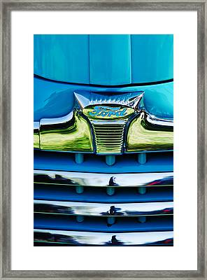 1947 Ford Deluxe Grille Ornament -0700c Framed Print