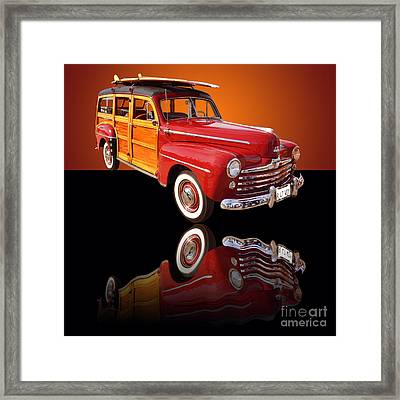 1947 Ford Woody Framed Print by Jim Carrell