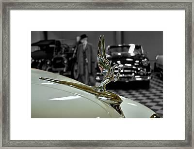 1947 Packard Hood Ornimate Framed Print