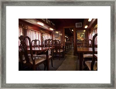 1947 Pullman Railroad Car Dining Room Framed Print by Thomas Woolworth
