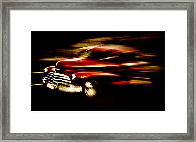 1947 Red Chevrolet Framed Print by Phil 'motography' Clark