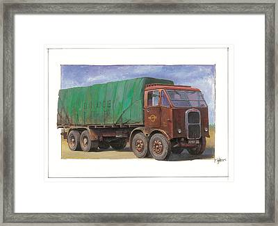 1947 Scammell R8 Framed Print by Mike  Jeffries