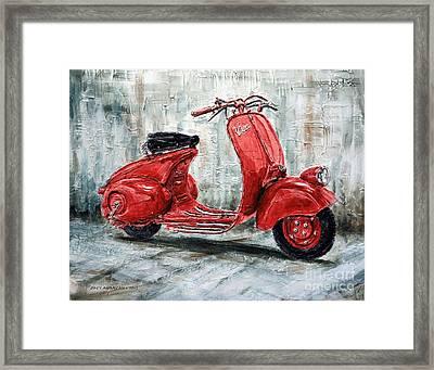 1947 Vespa 98 Scooter Framed Print
