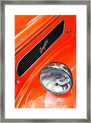 1948 Anglia 2-door Sedan Grille Emblem Framed Print by Jill Reger