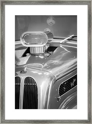1948 Anglia Engine -522bw Framed Print by Jill Reger