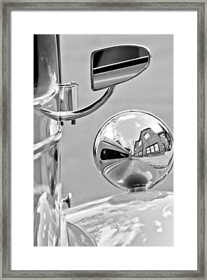 1948 Anglia Rear 1948 Anglia Rear View Mirror -451bwview Mirror Framed Print