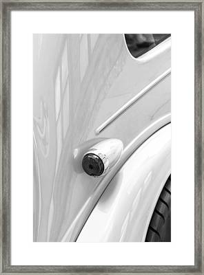 1948 Anglia Taillight -447bw Framed Print by Jill Reger