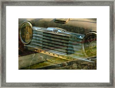 1948 Chevrolet Dashboard  Framed Print by Jill Reger
