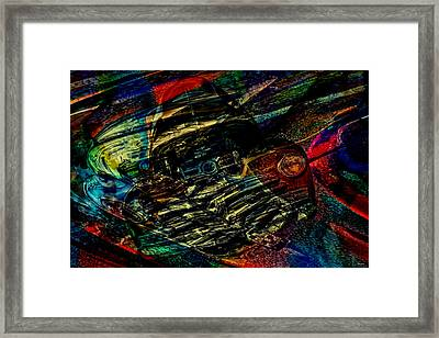 1948 Chevy Abstract Art Framed Print by Lesa Fine