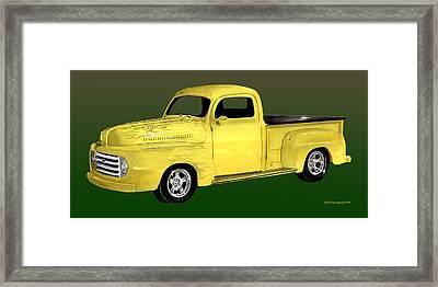 1948 Custom Ford Pick Up Framed Print by Jack Pumphrey