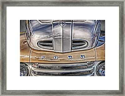 Framed Print featuring the digital art 1948 Ford Pickup by Richard Farrington