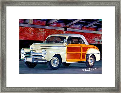 1948 Ford Super Delux Sportsman Convertible Woodie Framed Print