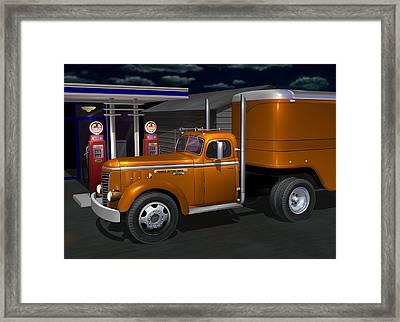 1948 Gmc Diesel Framed Print by Stuart Swartz