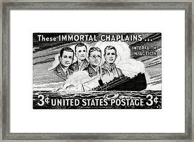 1948 Immortal Chaplains Stamp Framed Print by Historic Image