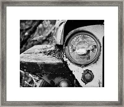 1948 Jeep Willys In Black And White Framed Print by Lisa Russo