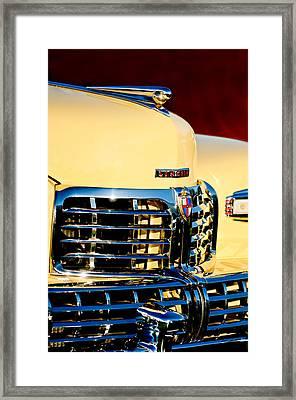 1948 Lincoln Continental Cabriolet Grille Emblem - Hood Ornament -0938c Framed Print