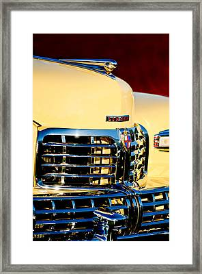 1948 Lincoln Continental Cabriolet Grille Emblem - Hood Ornament -0938c Framed Print by Jill Reger