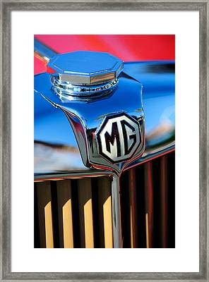 1948 Mg Tc Hood Ornament -767c Framed Print by Jill Reger