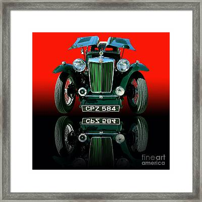1948 Mg Tc Roadster Framed Print by Jim Carrell