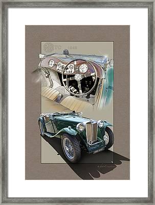 1948 Mg Tc Framed Print by Roger Beltz