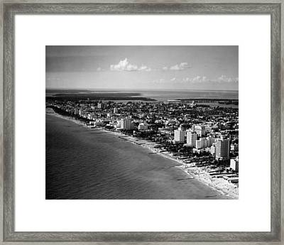 1948 Miami Beach Florida Framed Print by Retro Images Archive