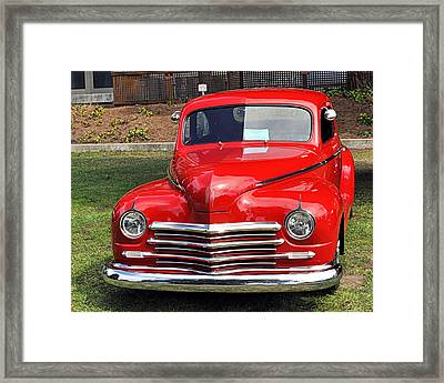 1948 Plymouth Coupe Framed Print by AJ  Schibig