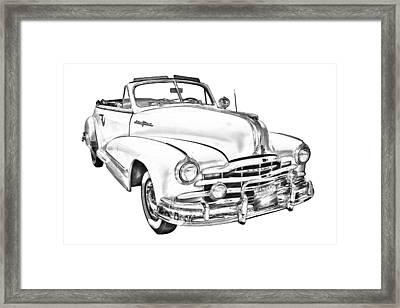 1948 Pontiac Silver Streak Convertible Illustration Framed Print by Keith Webber Jr