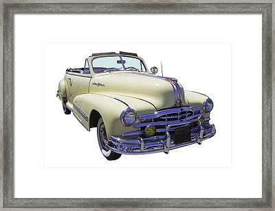 1948 Pontiac Silver Streak Convertible Framed Print by Keith Webber Jr