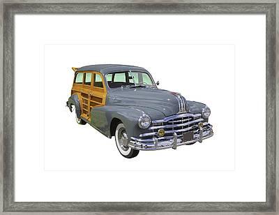 1948 Pontiac Silver Streak Woody Framed Print by Keith Webber Jr