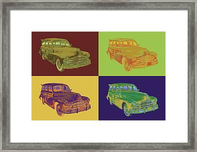 1948 Pontiac Silver Streak Woody Pop Art Framed Print by Keith Webber Jr