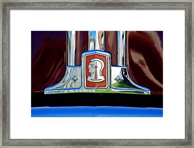1948 Pontiac Streamliner Woodie Station Wagon Emblem Framed Print by Jill Reger