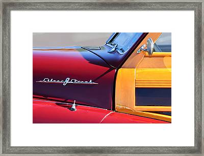 1948 Pontiac Streamliner Woodie Station Wagon Framed Print by Jill Reger