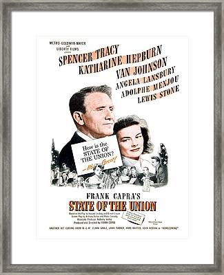 1948 - State Of The Union Motion Picture Poster - Spencer Tracy - Katherine Hepburn - Mgm - Color Framed Print by John Madison