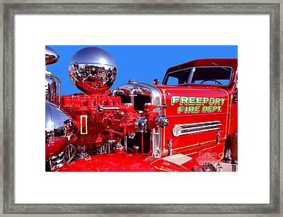 1949 Ahrens Fox Piston Pumper Fire Truck Framed Print by Jim Carrell