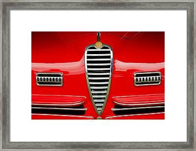 1949 Alfa Romeo 6c 2500 Ss Pininfarina Cabriolet Grille Framed Print