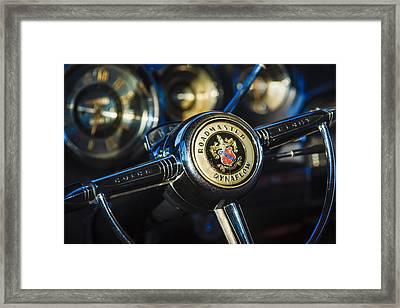 1949 Buick Roadmaster Riviera Coupe Steering Wheel Emblem Framed Print