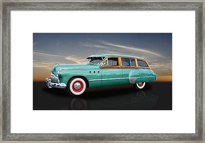 1949 Buick Super Woody Framed Print