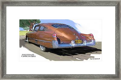 1949 Cadillac Fastback Framed Print by RG McMahon