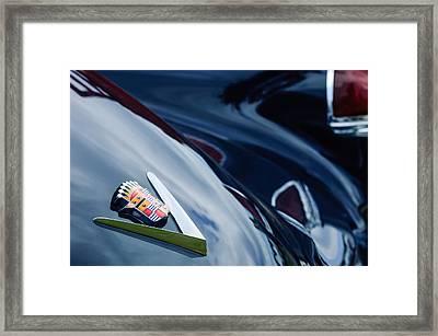 1949 Cadillac Fastback Taillight Emblem Framed Print by Jill Reger