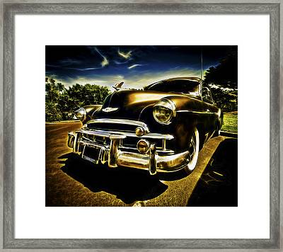 1949 Chevrolet Deluxe Coupe Framed Print