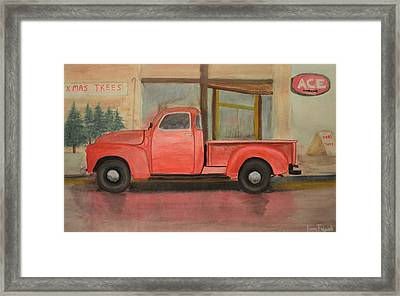 1949 Chevy Pickup Framed Print by Ken Figurski