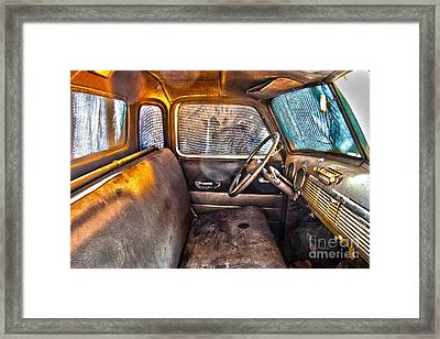 1949 Chevy Truck Cab Framed Print by D Wallace