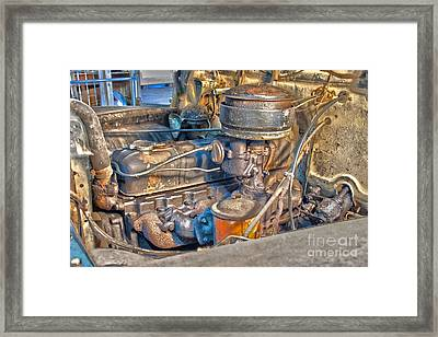 1949 Chevy Truck Engine Framed Print by D Wallace