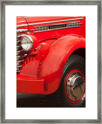 1949 Diamond T Truck Front End Framed Print
