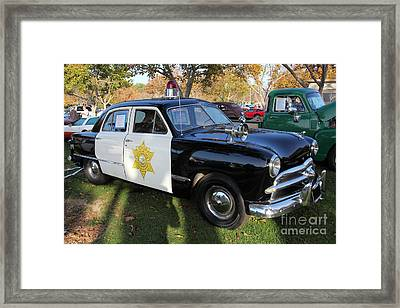 1949 Ford Police Car 5d26224 Framed Print by Wingsdomain Art and Photography